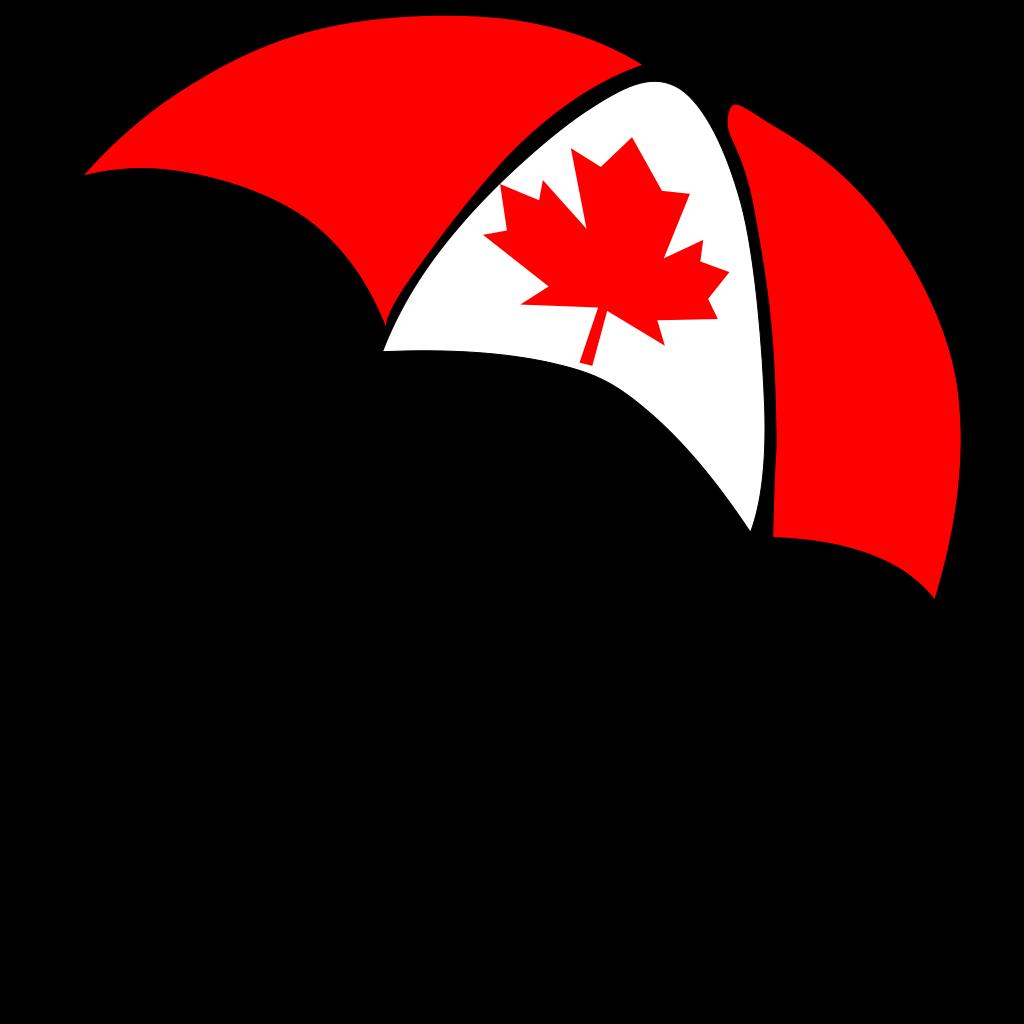 Canada Flag Umbrella SVG Clip arts