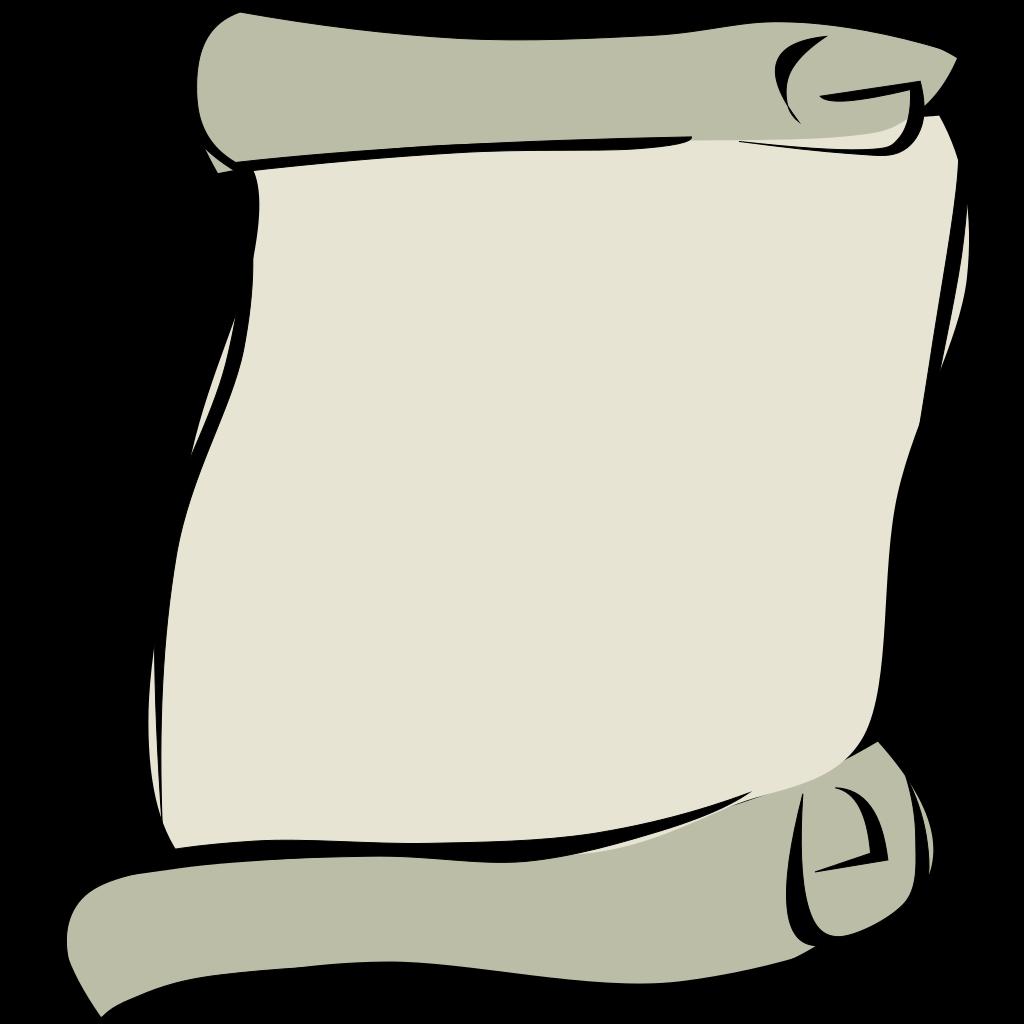 Parchment Paper Portrait Symbol SVG Clip arts