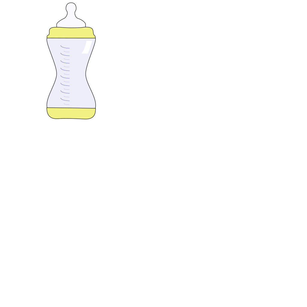 Baby Bottle 1 SVG Clip arts