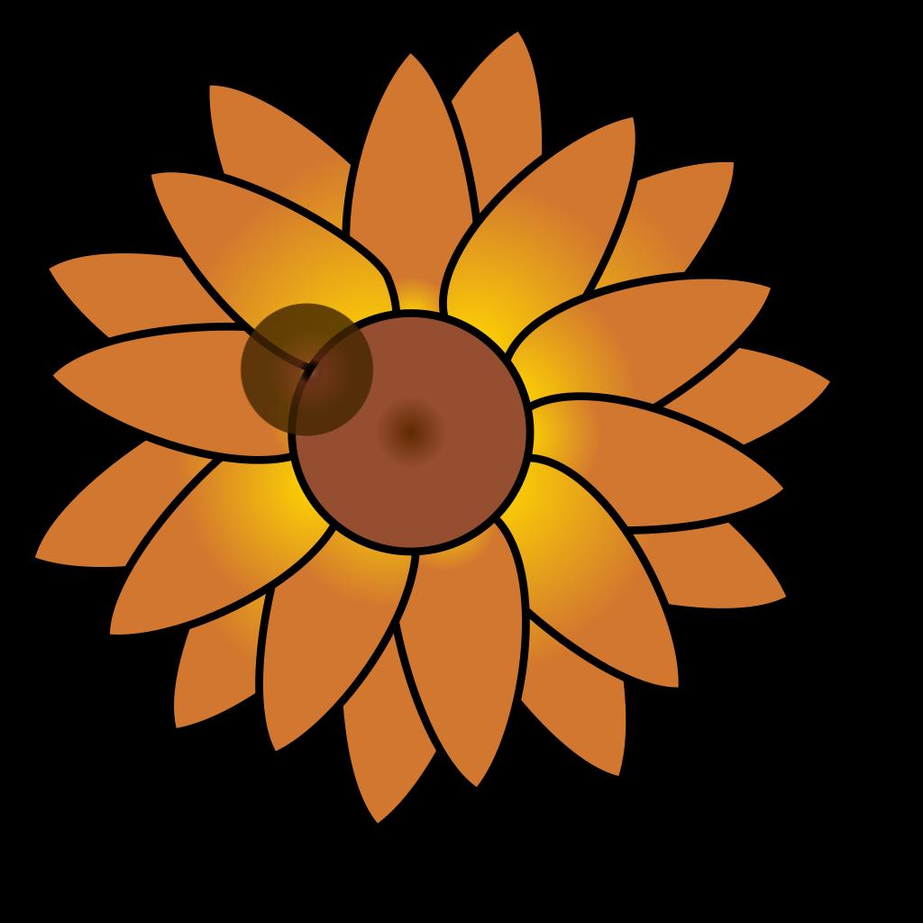 Back Of A Sunflower SVG Clip arts