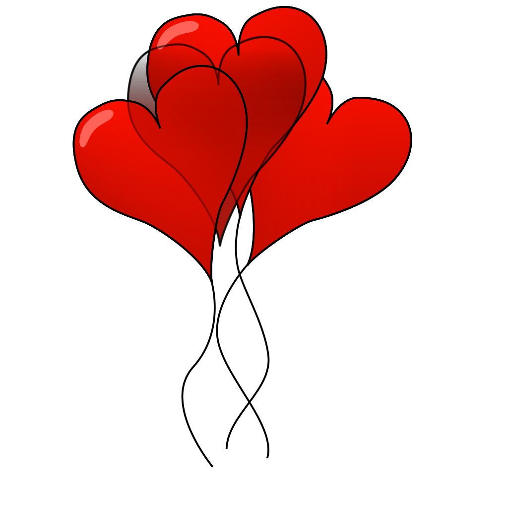 Heart-ballons SVG Clip arts