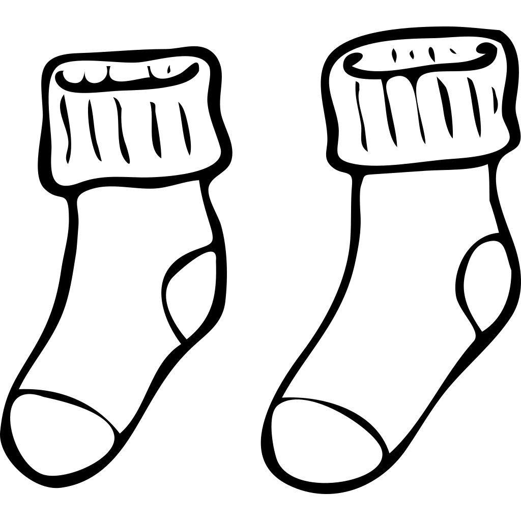 Clothing Pair Of Haning Socks SVG Clip arts