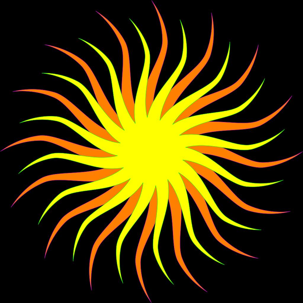 Smiling Cartoon Sun SVG Clip arts
