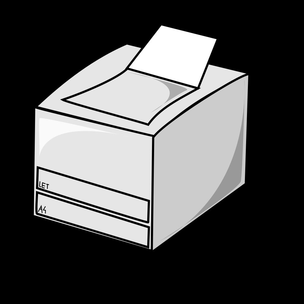 Laser Printer SVG Clip arts