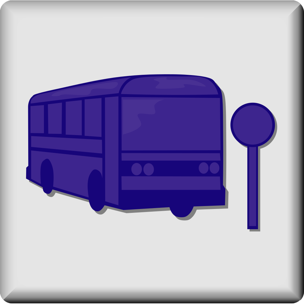 Hotel Icon Bus Stop SVG Clip arts
