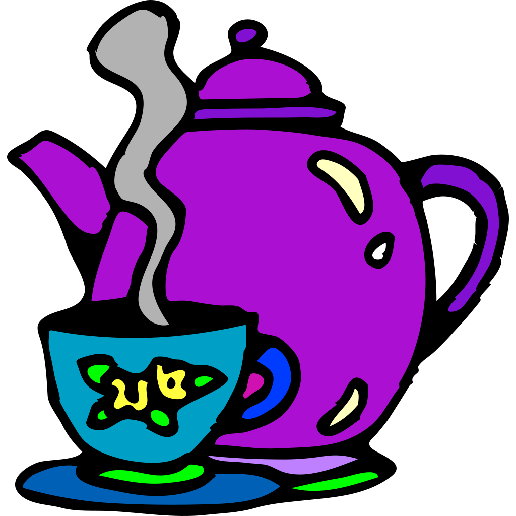 Tea Kettle And Cup SVG Clip arts