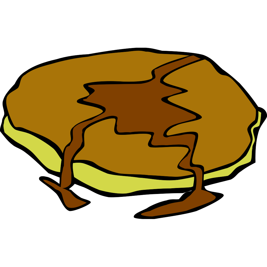 Pancake With Syrup SVG Clip arts