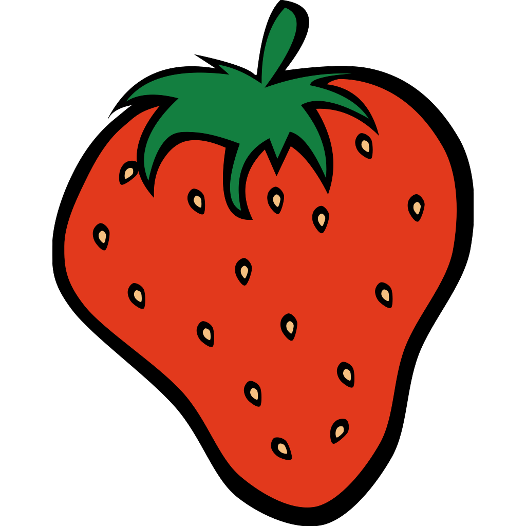 Strawberry 12 SVG Clip arts