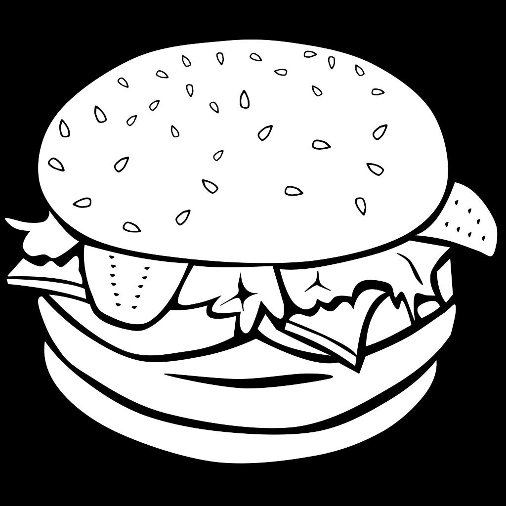 Hamburger (b And W) SVG Clip arts