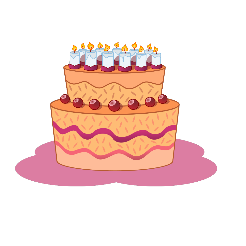 Gateau SVG Clip arts