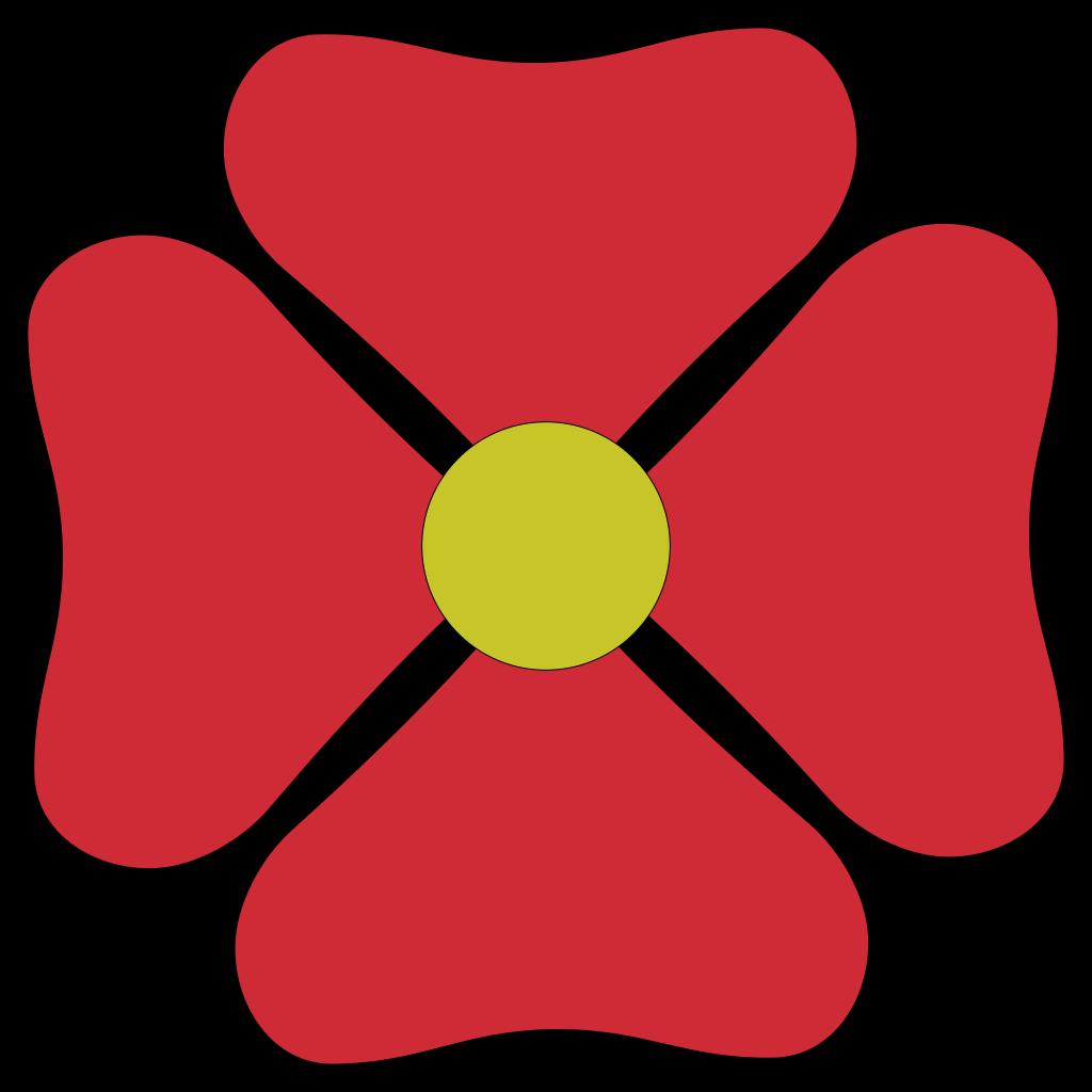 Red Flower SVG Clip arts