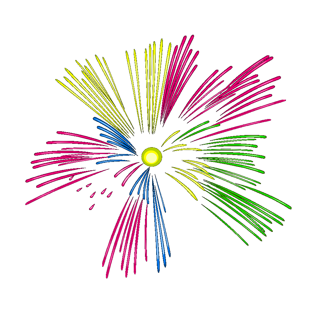 Mulit Colour Fireworks SVG Clip arts