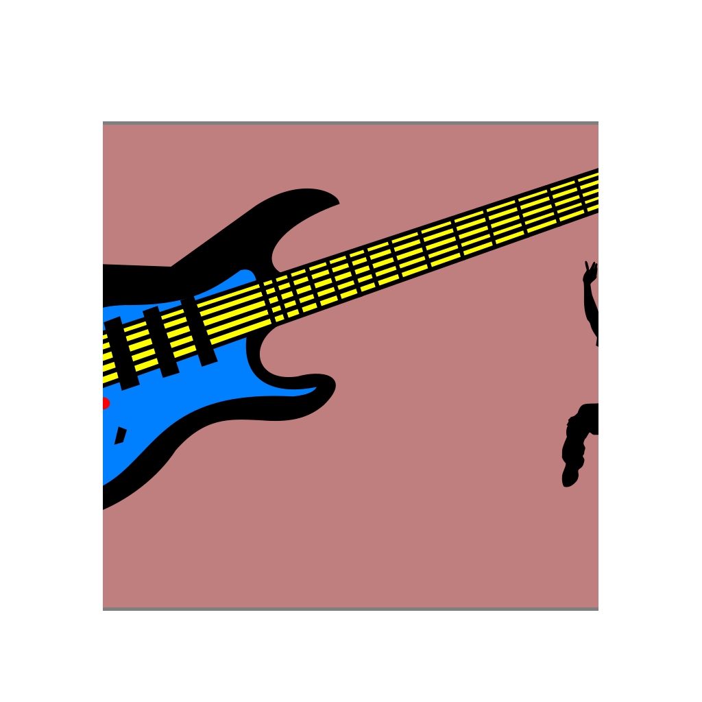 Electric Guitar SVG Clip arts