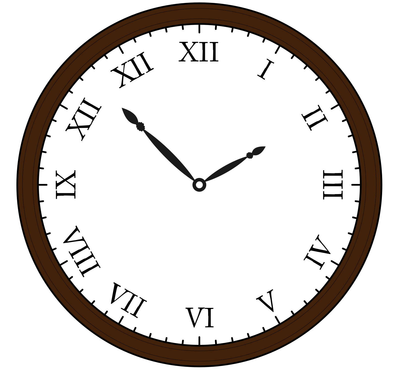 Analog Clock SVG Clip arts
