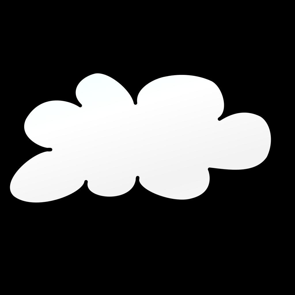 Cloud Outline SVG Clip arts