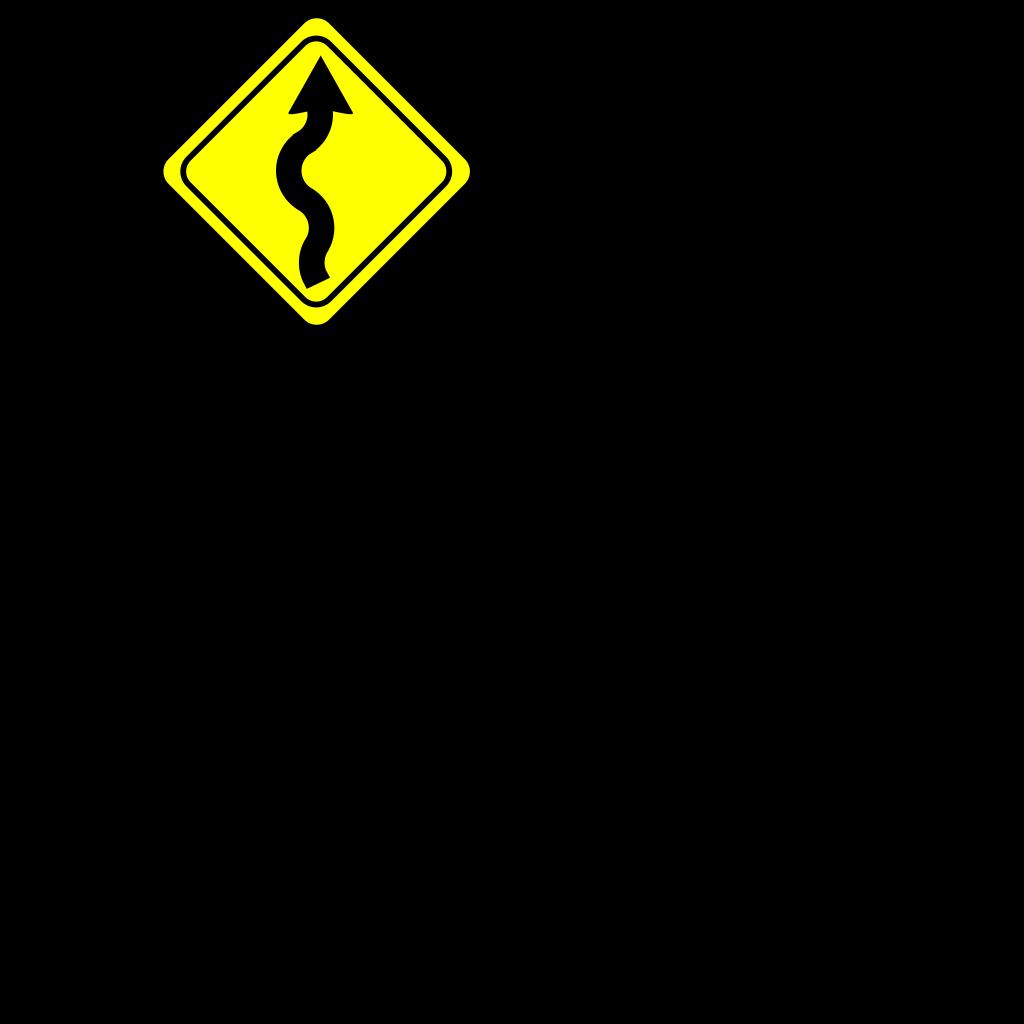 Curvy Road Ahead Sign SVG Clip arts