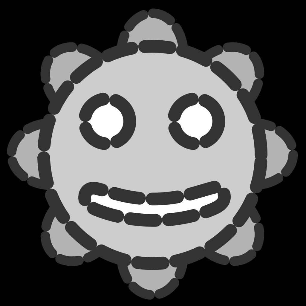Smiley Sun Invisible SVG Clip arts