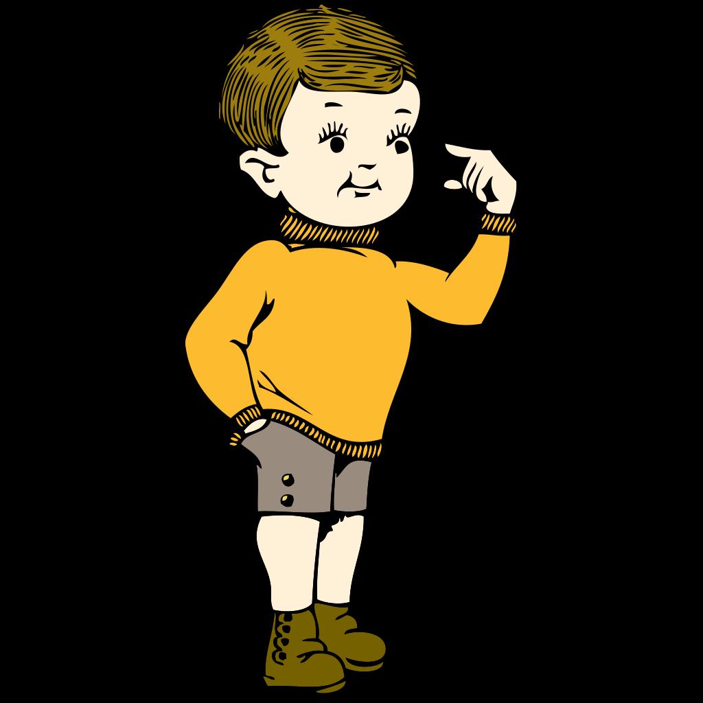 Little Boy SVG Clip arts