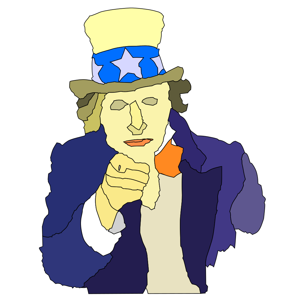Creepy Uncle Sam SVG Clip arts