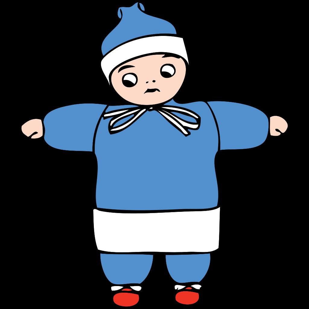 Snow Child SVG Clip arts