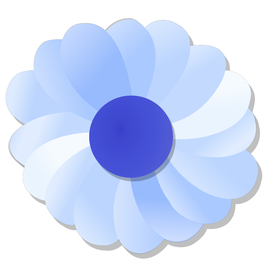 Blue Flower SVG Clip arts