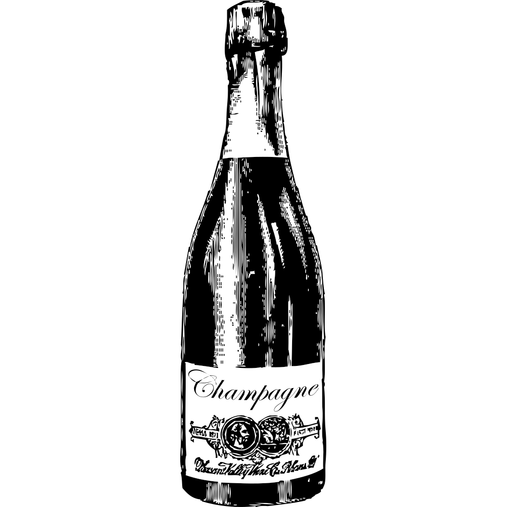 Champagne Bottle SVG Clip arts