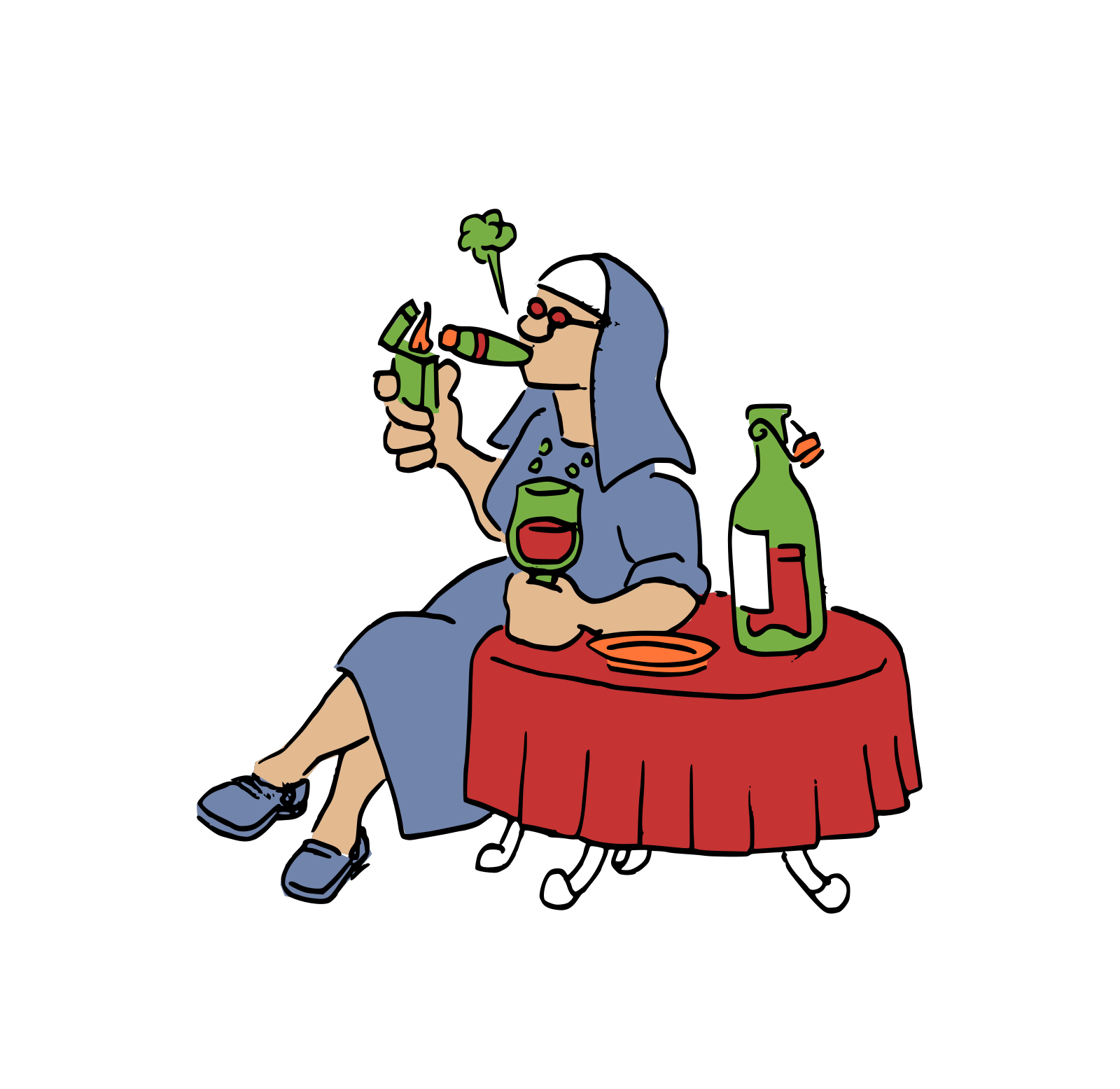 Nun 2 SVG Clip arts