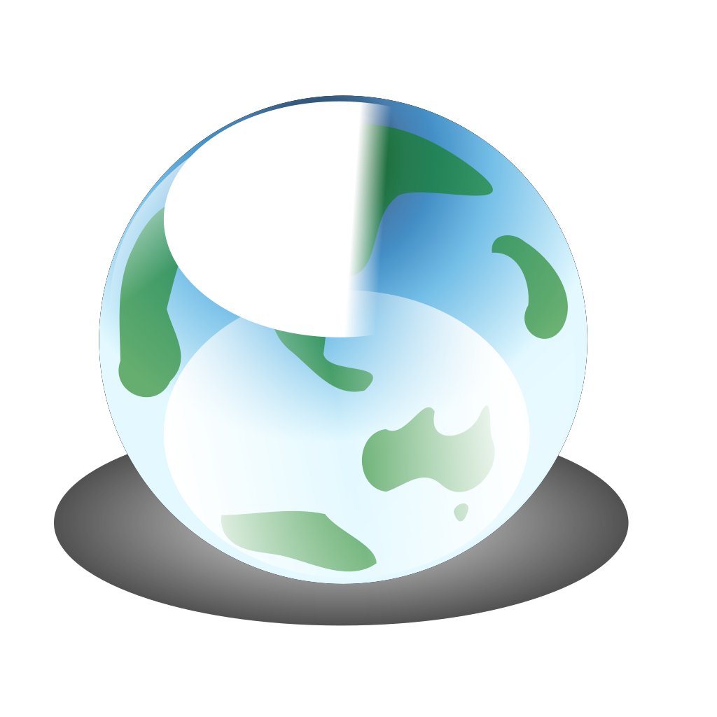 Recylcle Blue Crystal Earth Globe SVG Clip arts
