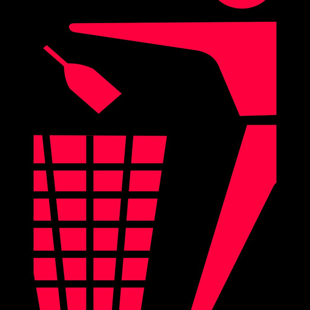 Ronoaldo Blue Trash Can SVG Clip arts
