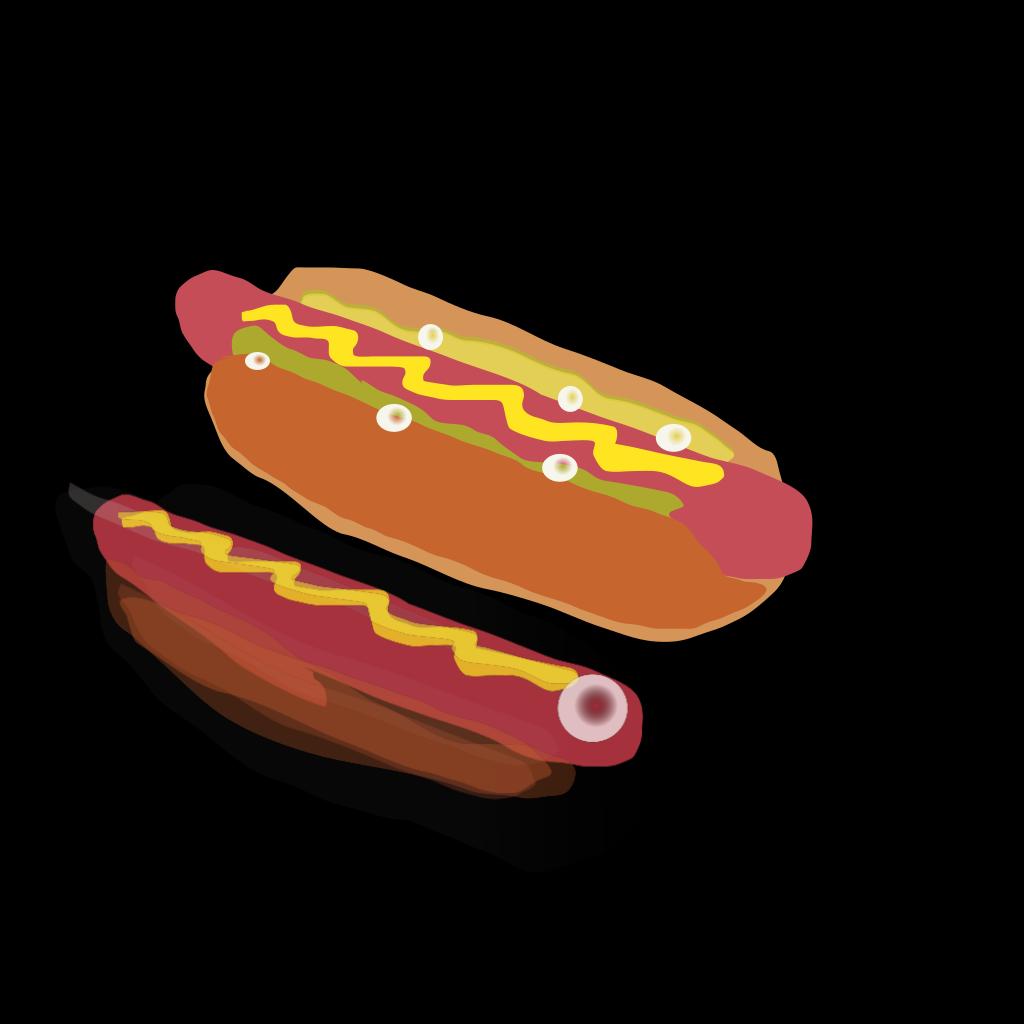 Hot Dog Sandwich  SVG Clip arts