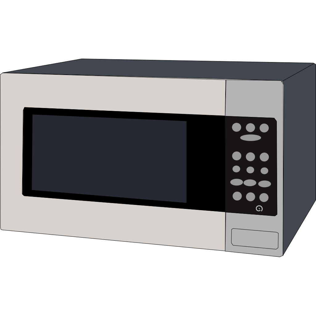 Microwave Oven SVG Clip arts