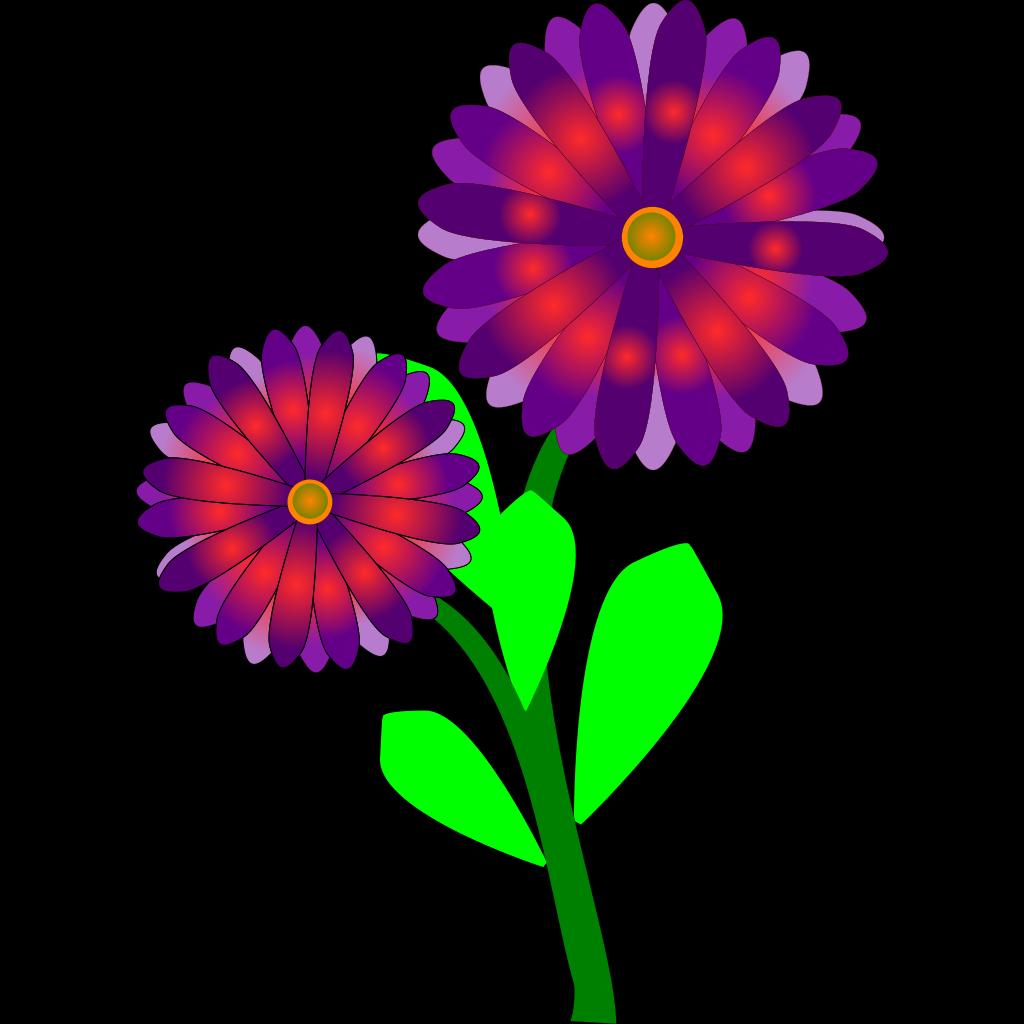 Rain Flowers SVG Clip arts