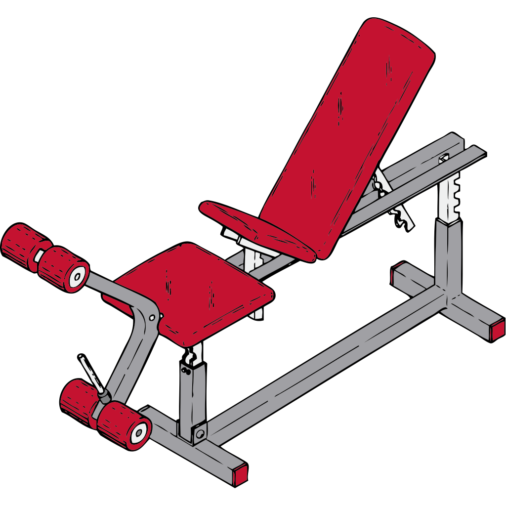 Exercise Bench SVG Clip arts