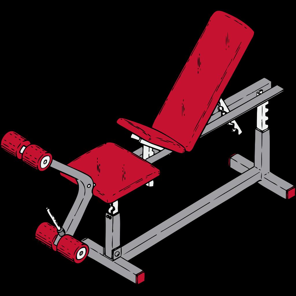 Exercise Bench SVG Clip arts