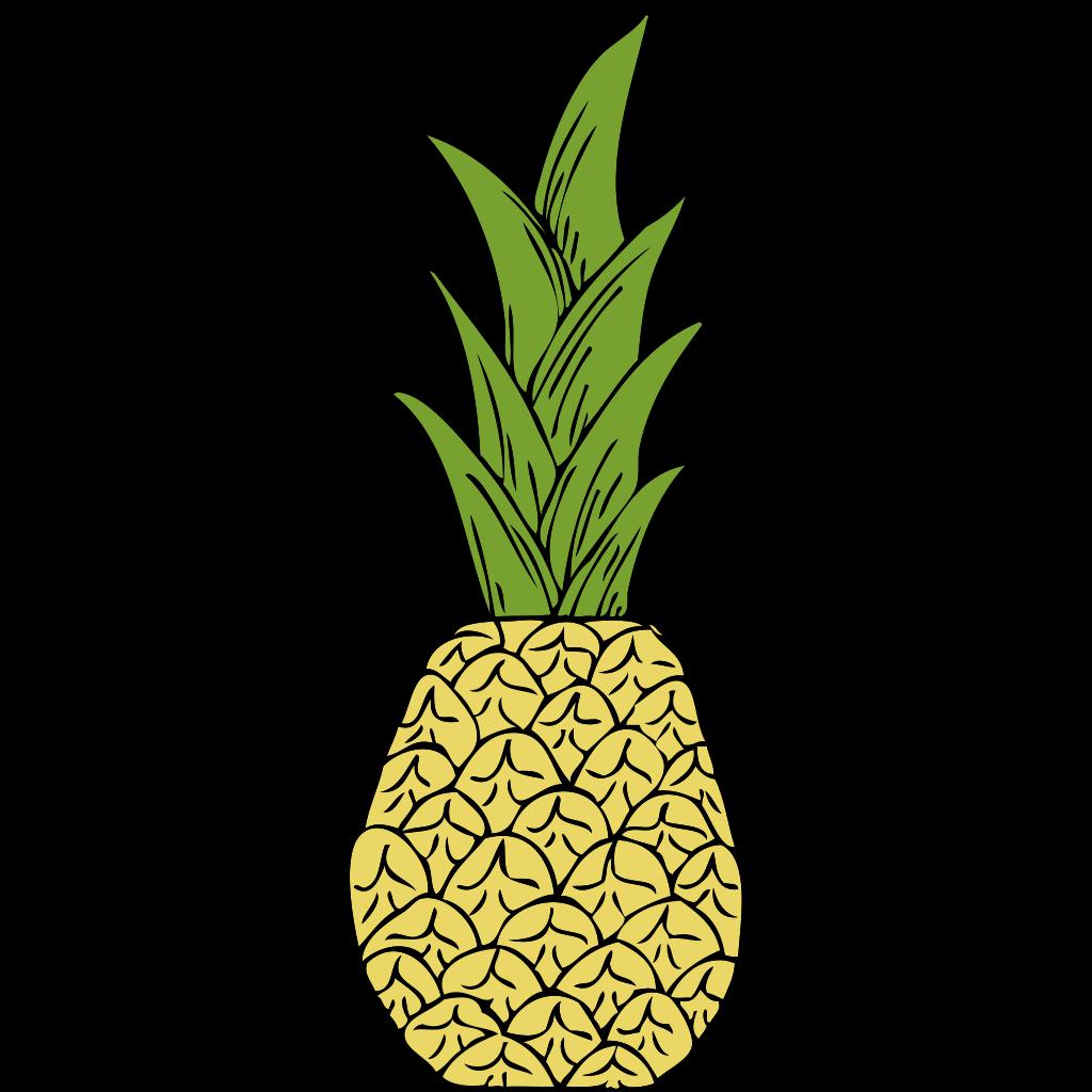 Pineapple Head SVG Clip arts