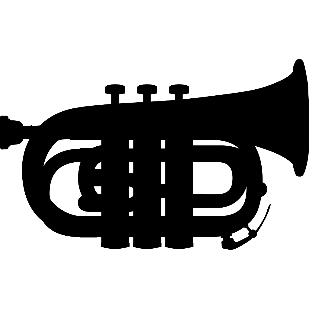 Pocket Trumpet Silhouette SVG Clip arts