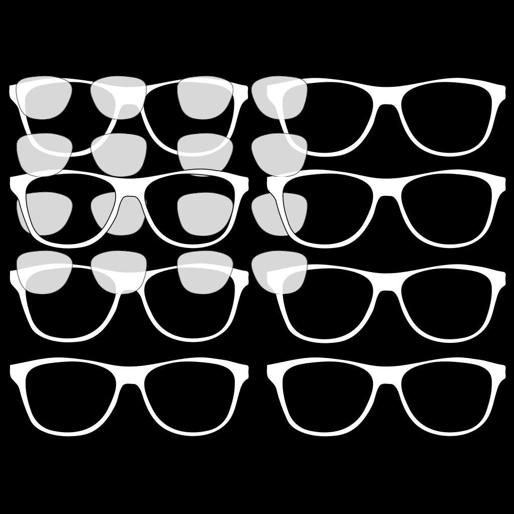 Sunglasses Outline SVG Clip arts