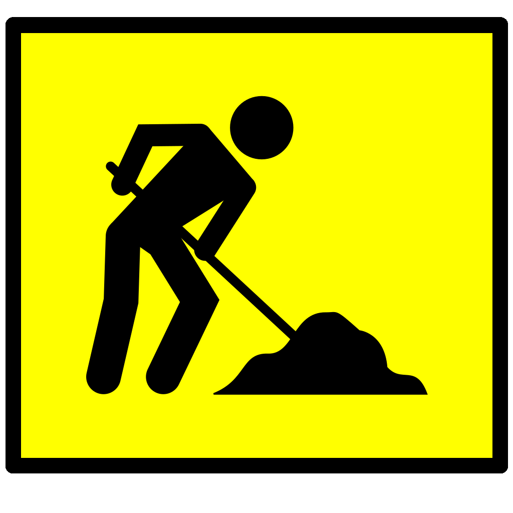 Road Work SVG Clip arts