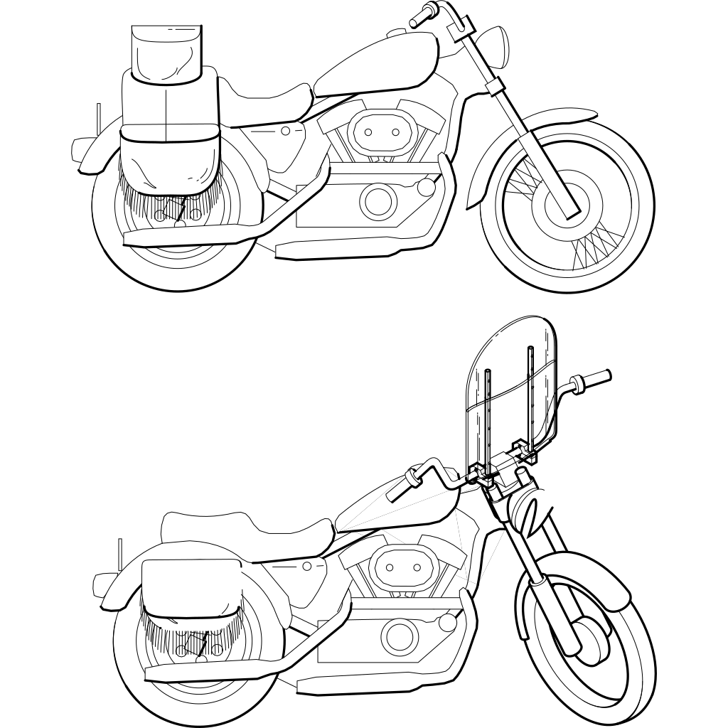 Motorcycle Windshield SVG Clip arts
