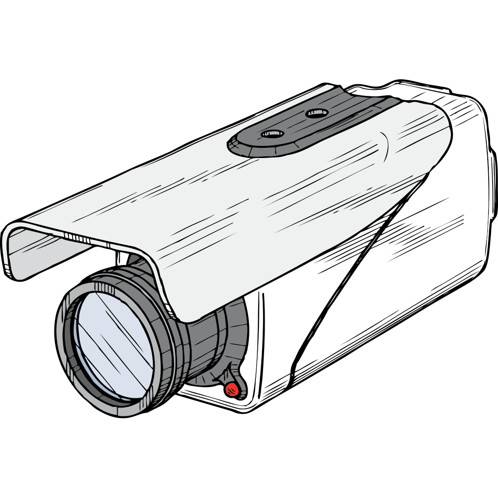 Surveillance Camera SVG Clip arts