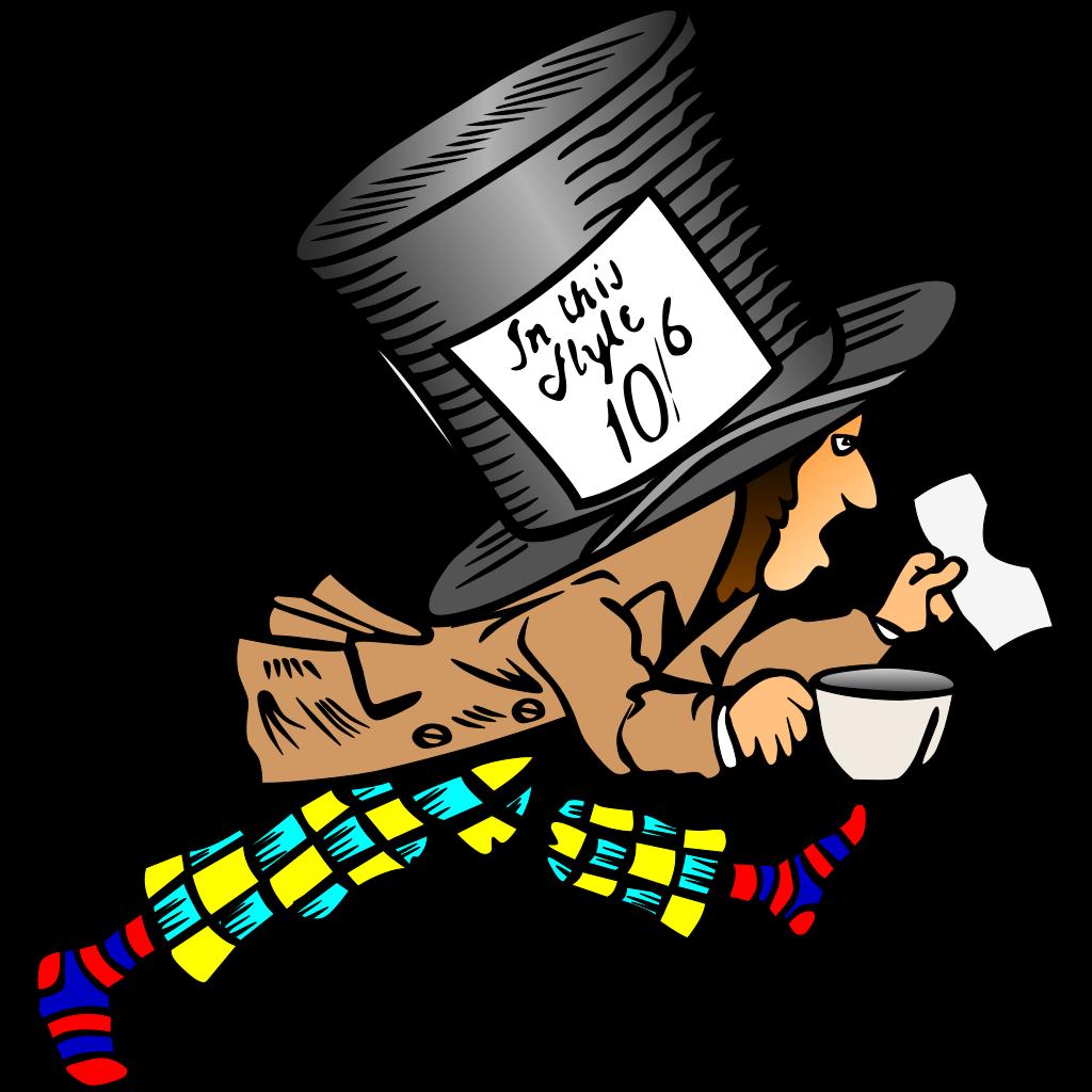 Mad Hatter SVG Clip arts
