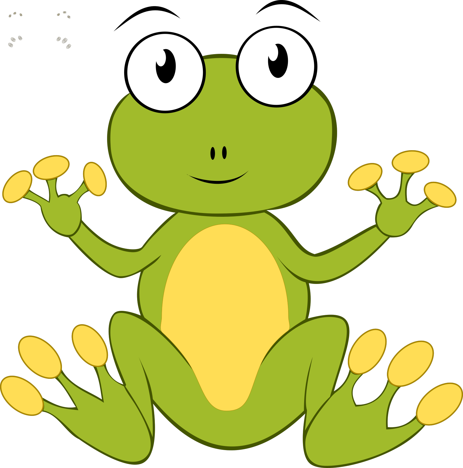 Sitting Frog SVG Clip arts