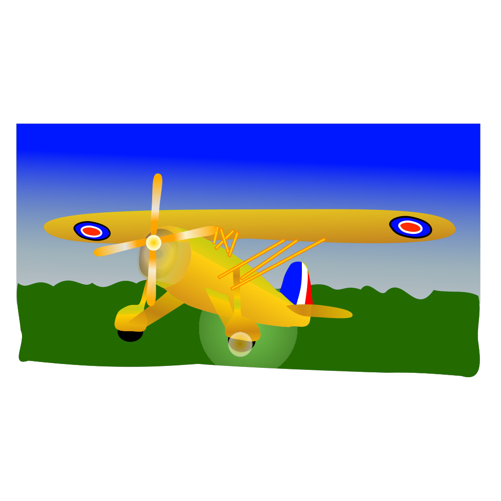Propeller Plane SVG Clip arts