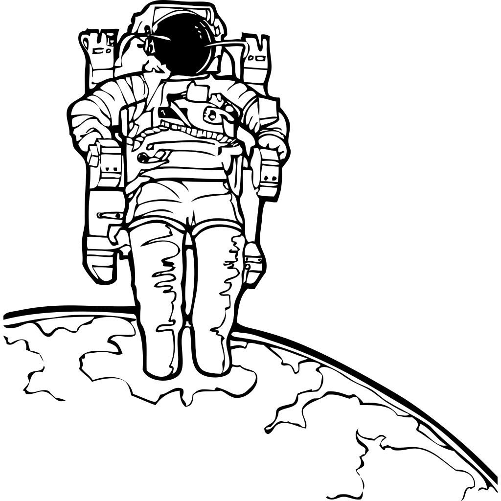 Space Walk SVG Clip arts