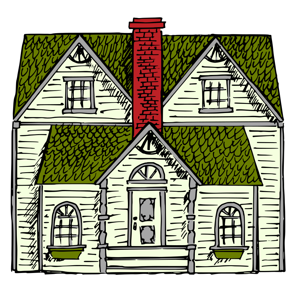Victorian House SVG Clip arts