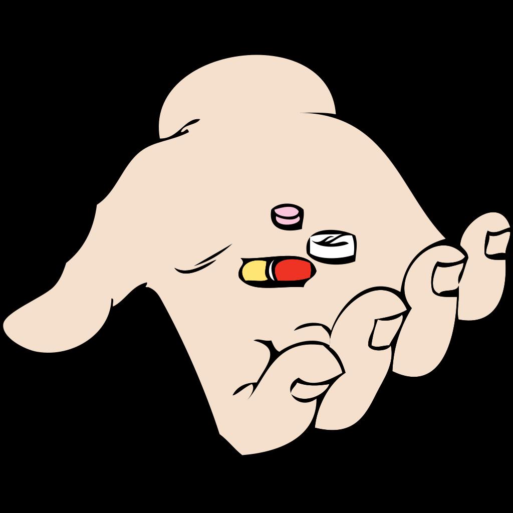 Hand And Pills SVG Clip arts