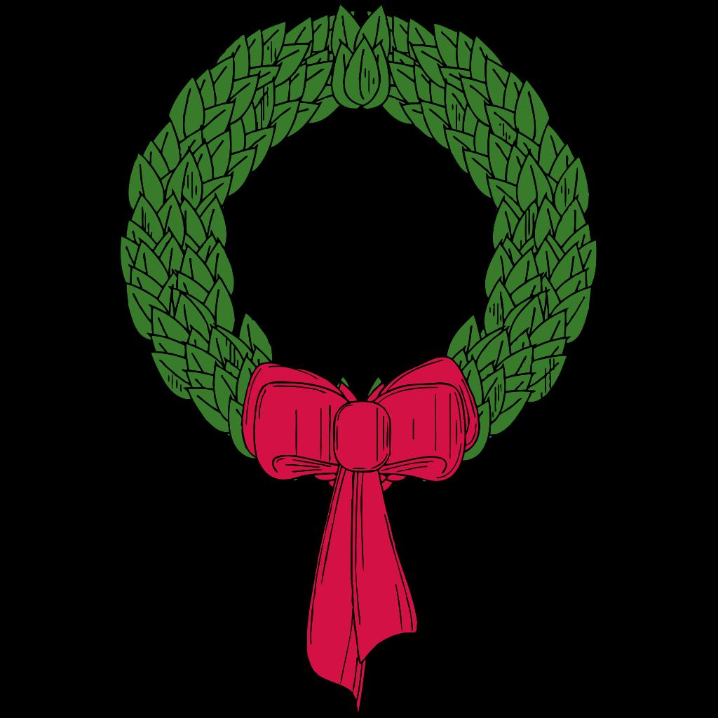Christmas Wreath SVG Clip arts