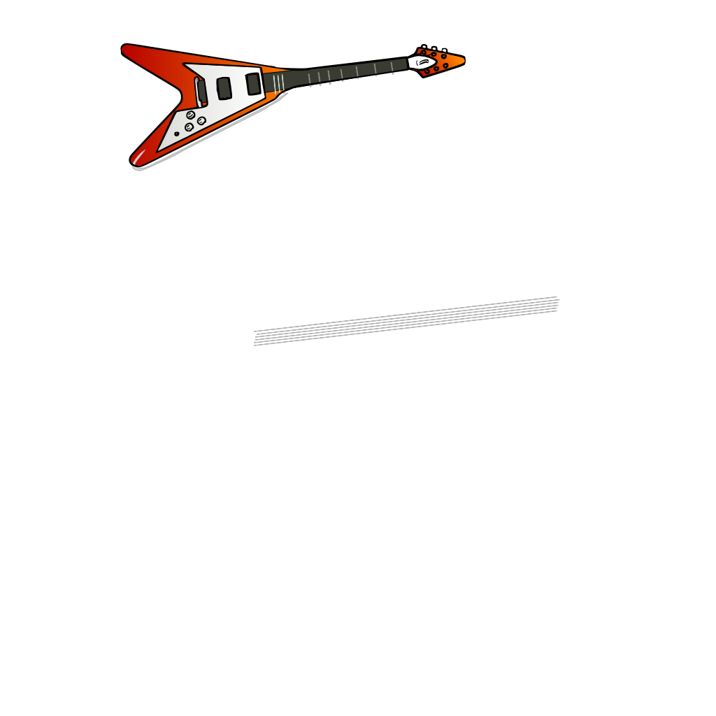 Flying V Guitar SVG Clip arts