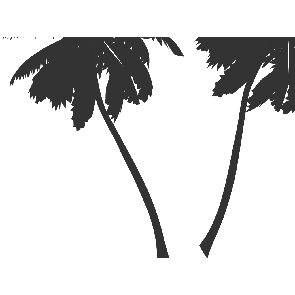 Three Palm Trees SVG Clip arts