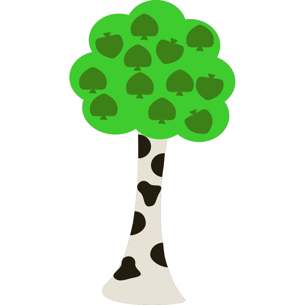 Cartoon Tree SVG Clip arts